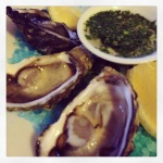 Oyster time at Monkey Mia...