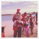 Santa has arrived in Coral Bay! By jet ski no less...