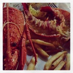 Crayfish demolition at Ronsard Bay Tavern, Cervantes. SO FRESH!