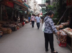 Shoppers at Qingping Market