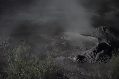 Bubbling mud pool