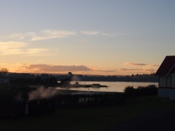 Sun goes down over Rotorua
