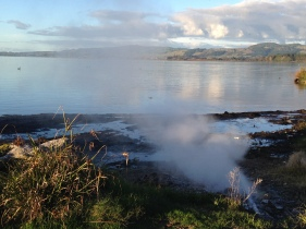 Beautiful clear morning at Rotorua