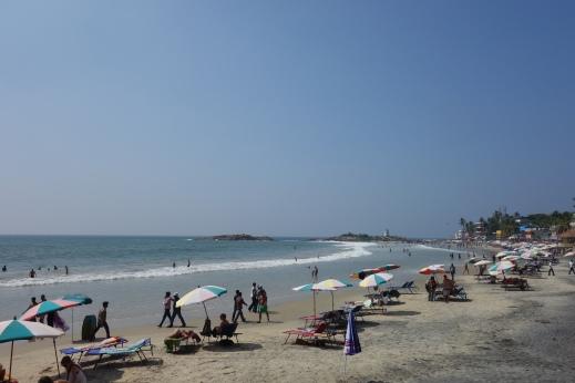 The main beach at Kovalam