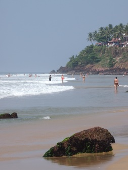 The beach at Varkala