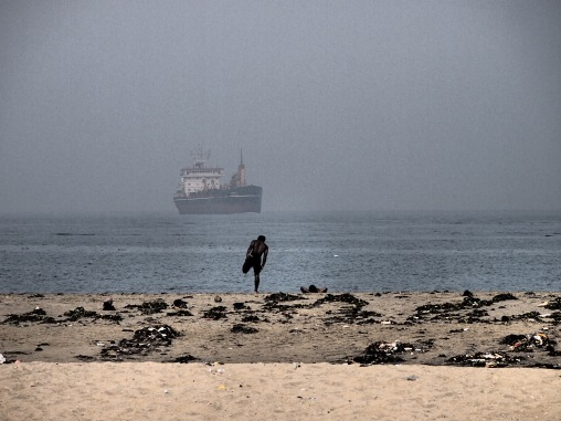 Yoga on the beach, Kochi